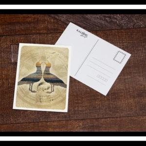 carte-postale Bretagne : goelands sur la plage