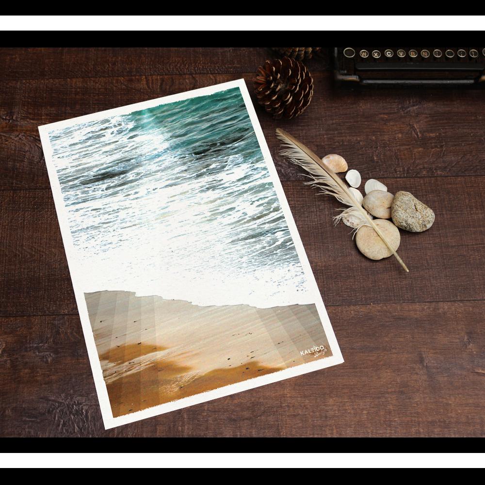 affiche bretagne : vue sur mer déco écume