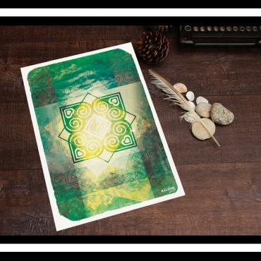 affiche bretagne : inspiration irlandaise celte