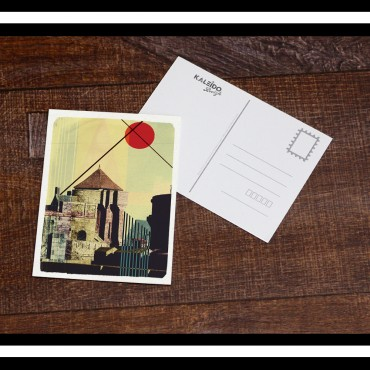 carte-postale Bretagne : remparts de saint-malo et japonisme