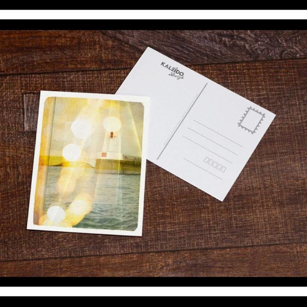 carte-postale Bretagne : vue du port