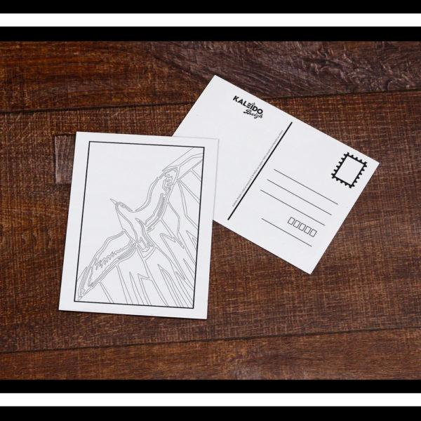 carte postale coloriage Bretagne goeland