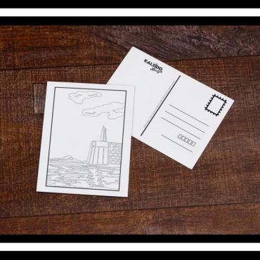 Carte à colorier Bretagne St-Malo port môle