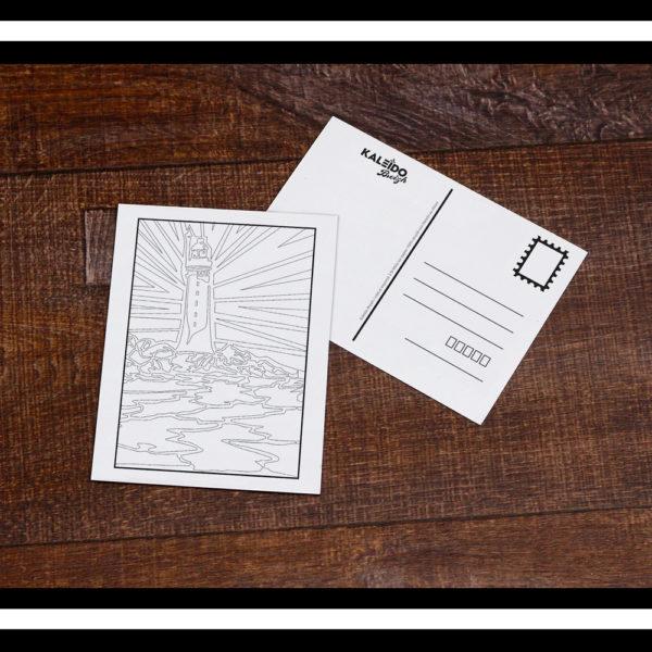 carte à colorier Bretagne St-Malo Grand Jardin phare